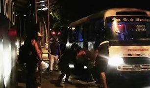 Lince: cobradores de cústers protagonizan pelea por ganar pasajeros