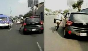 Trujillo: taxista arrastró varios metros a un policía para evitar multa