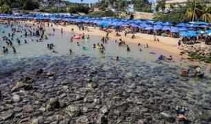 México: mar se retiró 20 metros en el puerto de Acapulco generando temor por tsunami