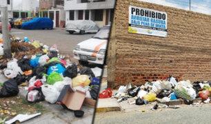 Denuncian que basura sigue acumulándose en calles de Trujillo