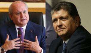 """Pedro Cateriano:  es """"evidente"""" que pago por conferencia a Alan García fue un favor político"""