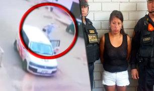 """Capturan a uno de los """"Marcas"""" que robaron 22 mil soles en San Juan de Miraflores"""