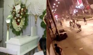 SJM: velan restos de jóvenes que murieron tras enfrentamiento entre barras