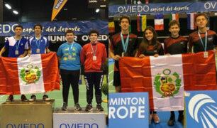 Badmintonistas peruanos consiguen 5 medallas en torneo internacional