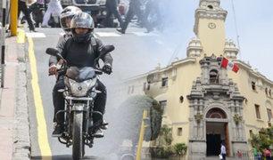 Miraflores aprueba proyecto de ley que prohíbe motocicletas con dos personas a bordo