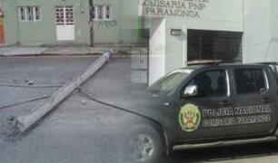 Poste de luz cae y mata a una anciana en Barranca