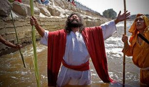 """Mario Valencia, el popular """"Cristo Cholo"""", se prepara para Semana Santa"""