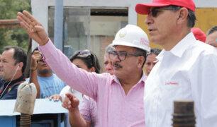 Presidente Vizcarra verificó daños causados tras desborde de río Tumbes