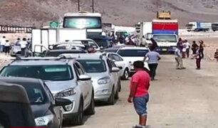 Arequipa: camioneros llegan a acuerdo para levantar bloqueo en Panamericana Sur