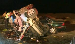 San Bartolo: tres muertos tras aparatoso choque de autos en la Panamericana Sur