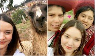 Modelo de Victoria's Secret alborota redes sociales con su visita a Cusco