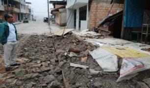 Sismo en Loreto: reportan daños materiales en viviendas de San Martín