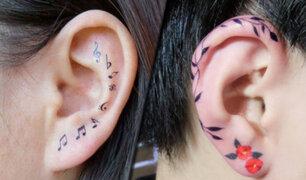 Tatuajes en la oreja: nueva tendencia causa furor con sus innovadores diseños