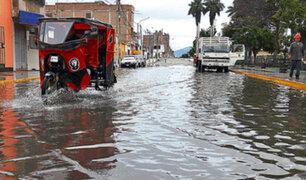 Piura: fuertes lluvias aíslan caseríos e inundan vías en Chulucanas