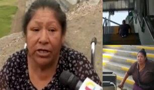 Metro de Lima: mujer con discapacidad tuvo que arrastrarse por escaleras durante una semana