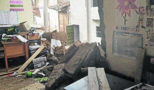 La Libertad: colegio colapsa por intensas lluvias en Santiago de Chuco