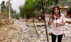 Alerta por caída de huaicos en Chosica y Chaclacayo por activación de quebradas