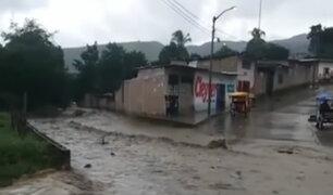 Jaén: torrenciales lluvias provocaron obstrucción de vías e inundaciones