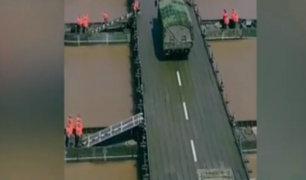 China: construyen puente en 26 minutos