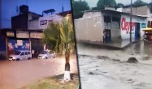 Intensa lluvia afectó principales vías de la ciudad de Jaén