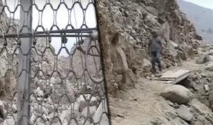 Geomallas reducen daños por huaicos en Chosica