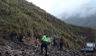 Huaico sepulta a maquinista cuando realizaba labores de limpieza en Huancavelica