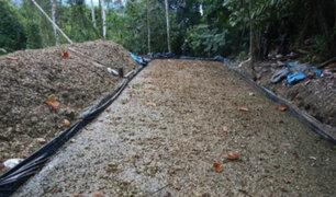 PNP destruye 10 pozas de maceración de hoja de coca en el Vraem