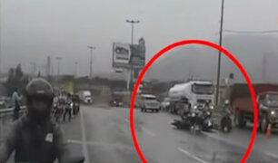 El Agustino: motociclistas imprudentes generaron más accidentes a pesar de recomendación de desvío