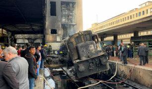 Egipto: al menos 20 muertos tras choque de tren en estación de El Cairo