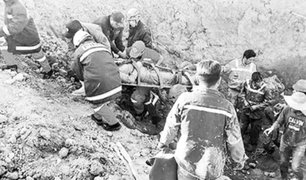 Chanchamayo: rescatan a hombre que fue sepultado en medio de una obra
