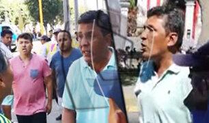 Sujetos atacan a inspectores de tránsito en la avenida Arequipa