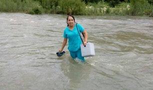 Piura: destacan labor de enfermera que cruzó río para atender a bebé