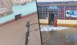 Jauja: torrencial lluvia inunda calles y viviendas