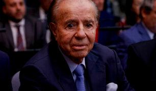 Argentina: Carlos Menem fue absuelto de acusación por encubrimiento de atentado terrorista