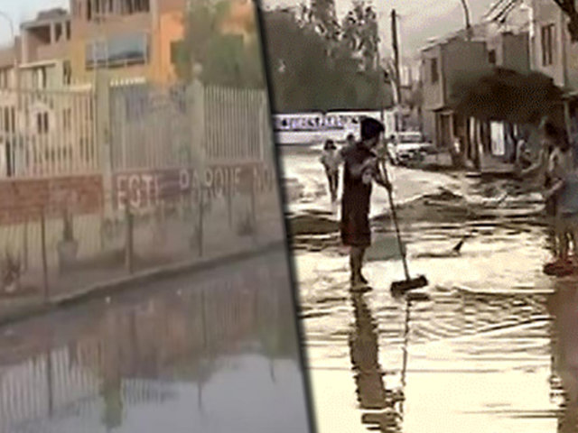 San Juan de Lurigancho: Vecinos sufrieron nuevo aniego tras ruptura de tubería de agua