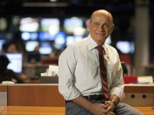 Reconocido periodista brasileño falleció en accidente de helicóptero