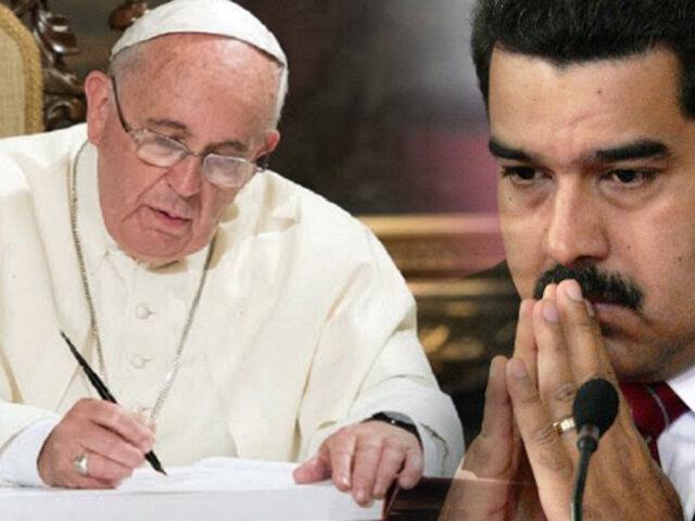 Filtran carta del papa Francisco dirigida a Nicolás Maduro