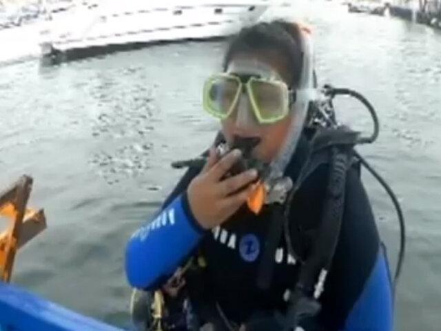 Reportera de ASD se sumerge en el mar y recicla toneladas de basura
