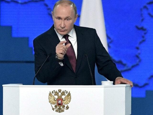 """Vladimir Putín afirma que Armada Rusa puede responder a """"cualquier agresor"""""""