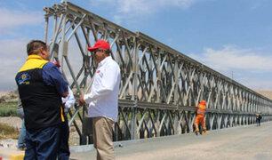 Moquegua: se reanudó tránsito vehicular por el puente Montalvo