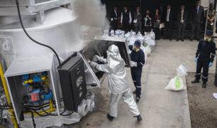 Autoridades incineran más de 13 toneladas de droga en Ate