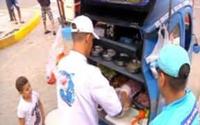 Mototaxis convertidas en puestos de comida causan furor en Lima