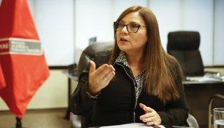 Ministra de la Mujer se pronuncia sobre denuncia contra Lescano