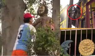 Chosica: plantel donde profesor fue torturado para presunto ritual presenta extraños símbolos