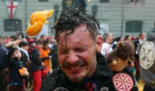 Carnaval de Ivrea: la legendaria ''Batalla de las naranjas'' [FOTOS]
