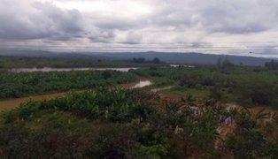 Desborde de río Tumbes inunda zonas de cultivos en varios distritos