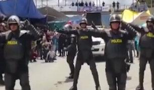 Cajamarca: policías realizan coreografía durante carnaval