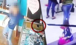 Sujetos usan a sus hijos para robar en tiendas