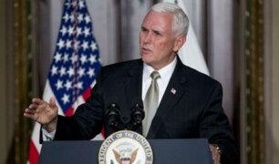 Mike Pence dice que EEUU no retrocederá hasta que Venezuela recupere su libertad