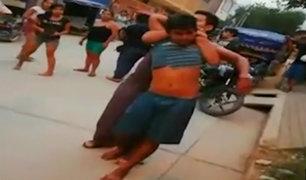 Jaén: enardecidos vecinos intentan quemar vivo a supuesto ladrón